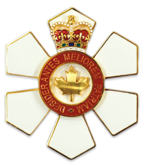 Order of Canada Officer (O.C.) medal.