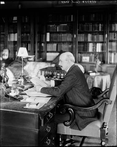 Earl Grey, Governor General of Canada (1904-1911), in his office at Rideau Hall. Date: June 1909. Photographer: William James Topley. Reference: Library and Archives Canada, PA-042405.