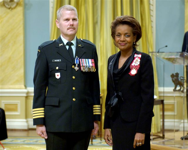 <p>Her Excellency the Right Honourable Michaëlle Jean, Governor General of Canada, presided over a presentation ceremony of the Meritorious Service Decorations at Rideau Hall, in Ottawa, on April 28, 2006.</p>