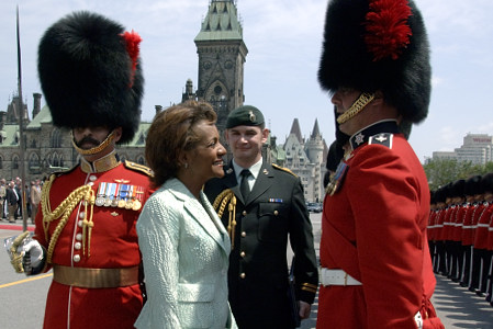 Their Excellencies the Right Honourable Michaëlle Jean, Governor General and Commander-in-Chief of Canada, and Mr. Jean-Daniel Lafond, along with their daughter Marie-Éden, took part in Canada Day celebrations on Parliament Hill in Ottawa on Saturday, July 1, 2006.