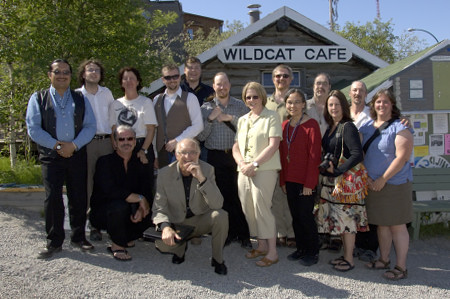 His Excellency Jean-Daniel Lafond took part in a discussion with filmmakers, artists, authors and local cultural leaders at Yellowknife's Wildcat Café on June 23, 2006.  As he has done in previous regional visits across Canada, Mr. Lafond addressed the theme of art and civic engagement during the meeting.