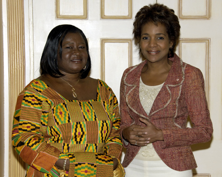 Her Excellency the Right Honourable Michaëlle Jean received on Tuesday, September 19, 2006, at the Governor General's residence in Quebec City, the credentials of Her Excellency Margaret Ivy Amoakohene, High Commissioner Designate of the Republic of Ghana.