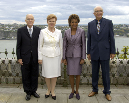 Their Excellencies the Right Honourable Michaëlle Jean, Governor General and Commander-in-Chief of Canada, and Mr. Jean-Daniel Lafond had the pleasure of welcoming for the very first time at the Citadelle a head of State making an official visit to Canada. The President of Latvia, Her Excellency Vaira Vike-Freiberga and Mr. Imants Freibergs, were welcomed on September 20, 2006, in front of the governor general's residence at the Citadelle of Québec. The ceremony included an inspection of the guard of honour by the President, speeches and a receiving line, followed by a tête-à-tête and a State luncheon at the Citadelle.