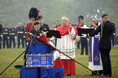 Ceremony for the consecration and dedication of the colours of the 3rd Battalion, Royal 22e Régiment