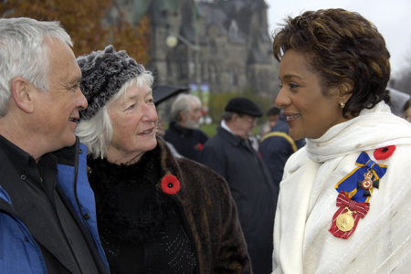 Governor General  unveils the Valiants Memorial at Confederation Square in Ottawa