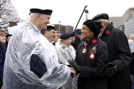 The Governor General and Commander-in-Chief of Canada  attends the National Remembrance Day Ceremony at the National War Memorial in Ottawa