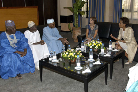 Meeting with the representatives of the Founding Families of Bamako (Bamako)