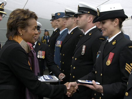 Medals Presentation to the Crew of HMCS Iroquois (Casablanca Harbour)