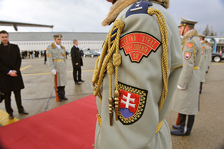 Official welcoming ceremony with military honours on arrival in the Slovak Republic.