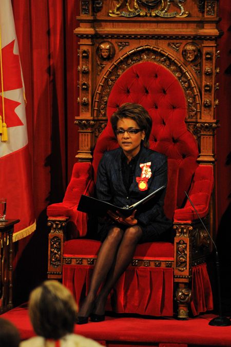 Her Excellency the Right Honourable Michaëlle Jean, Governor General of Canada, delivered the Speech from the Throne on January 26, 2009.