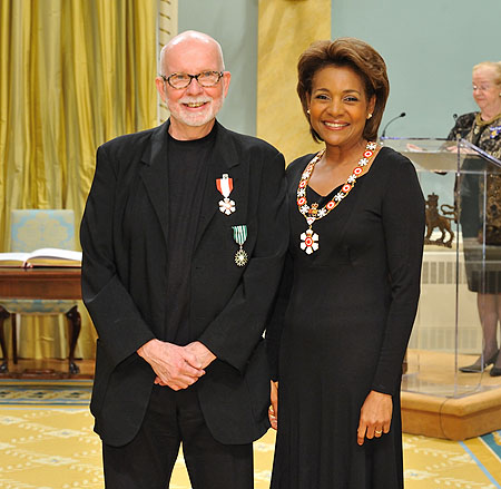Her Excellency the Right Honourable Michaëlle Jean, Governor General of Canada, presented the insignia of member of the Order of Canada to Peter Boneham, C.M. One of the longest-serving artistic directors in Canadian contemporary dance, Peter Boneham is known as a visionary leader.