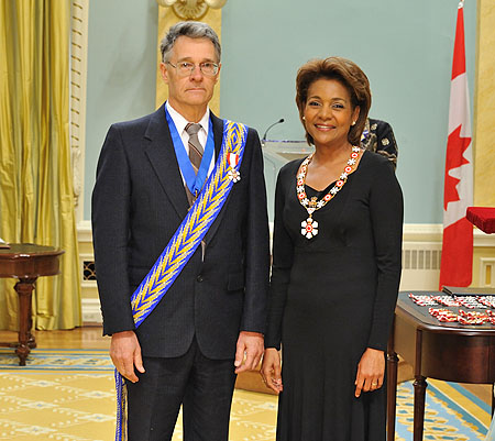 Her Excellency the Right Honourable Michaëlle Jean, Governor General of Canada, presented the insignia of member of the Order of Canada to Marcien Ferland, C.M. Marcien Ferland has spent over 50 years working to preserve and promote French and Métis culture in Manitoba.