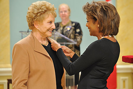 Her Excellency the Right Honourable Michaëlle Jean, Governor General of Canada, presented the insignia of member of the Order of Canada to Suzanne Lapointe, C.M. For more than 50 years, Suzanne Lapointe has held a special place in the artistic community and in the heart and soul of Quebec society.