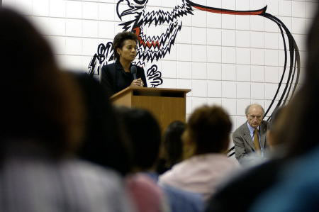 "Their Excellencies visited the Children of the Earth High School in Winnipeg, Manitoba, on October 20th, 2005. In her exchange with the students, Her Excellency stated: <em>""The efforts you are making to promote aboriginal traditions, experiences and languages enrich all Canadians and give hope to those who, like yourselves, are working hard to preserve their culture around the world. You are models for us all. You are models for the world.""</em>"