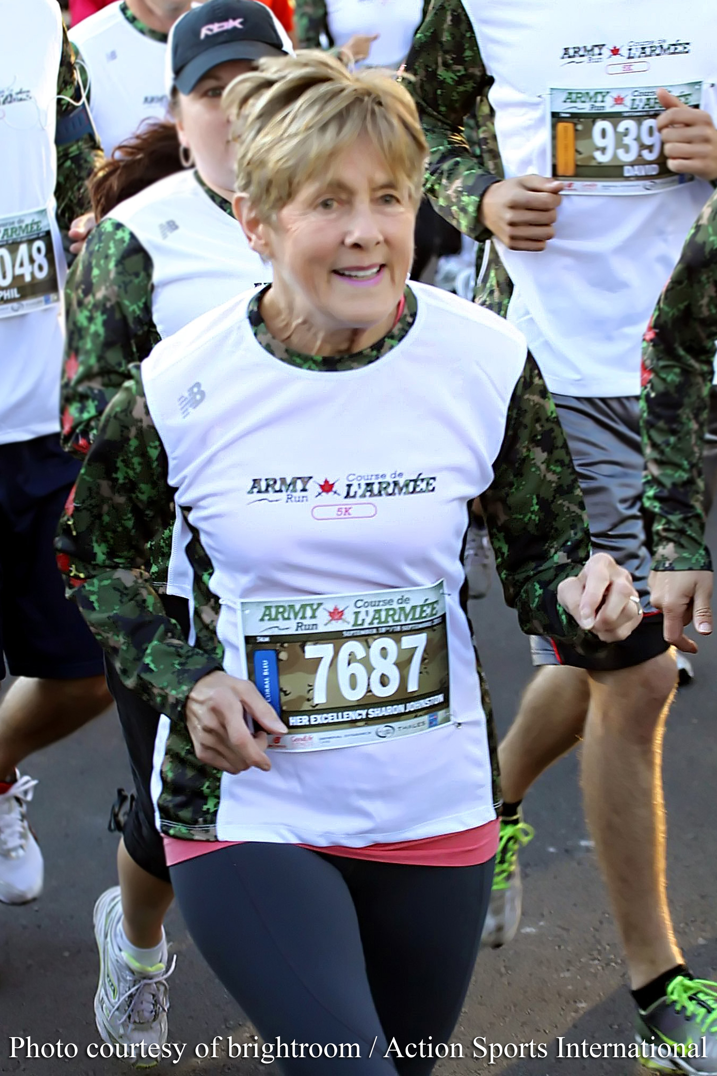 Her Excellency Sharon Johnston participated in the 5-kilometre race.