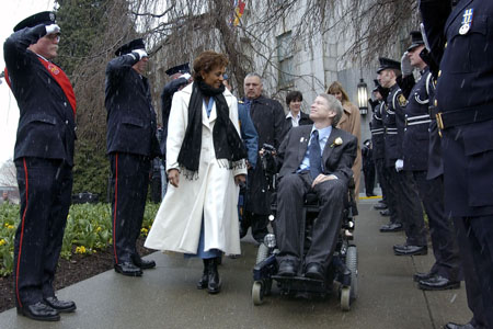 The Governor General met privately with His Worship Sam Sullivan, Mayor of Vancouver, and his cabinet.