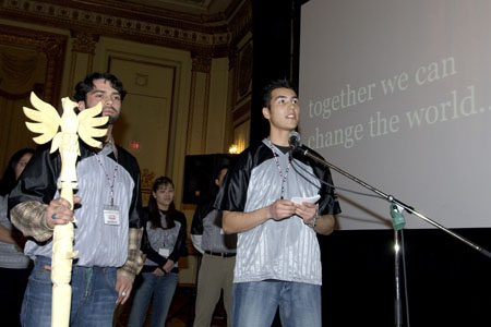 On March 9, 2006, in Vancouver, the Governor General took part in the National Aboriginal Capital Corporation Association's third annual Aboriginal Youth Entrepreneur Symposium. She spoke with and listened to young Aboriginal entrepreneurs seeking to create economic opportunities and to explore business opportunities to improve the outlook for their communities.