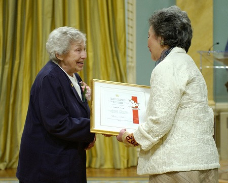 Adrienne Clarkson presented the Governor General's Caring Canadian Award to 22 recipients at a ceremony at Rideau Hall, on Monday, April 18, 2005. The presentation took place during the National Volunteer Week, being held from April 17 to 23, 2005.