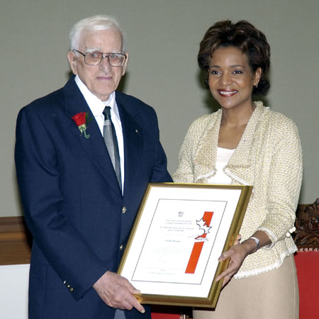 <p>Her Excellency presented the Governor General's Caring Canadian Award to Mr. Garth Harvey at a ceremony held in Victoria, British Columbia, on March 8, 2006.</p>