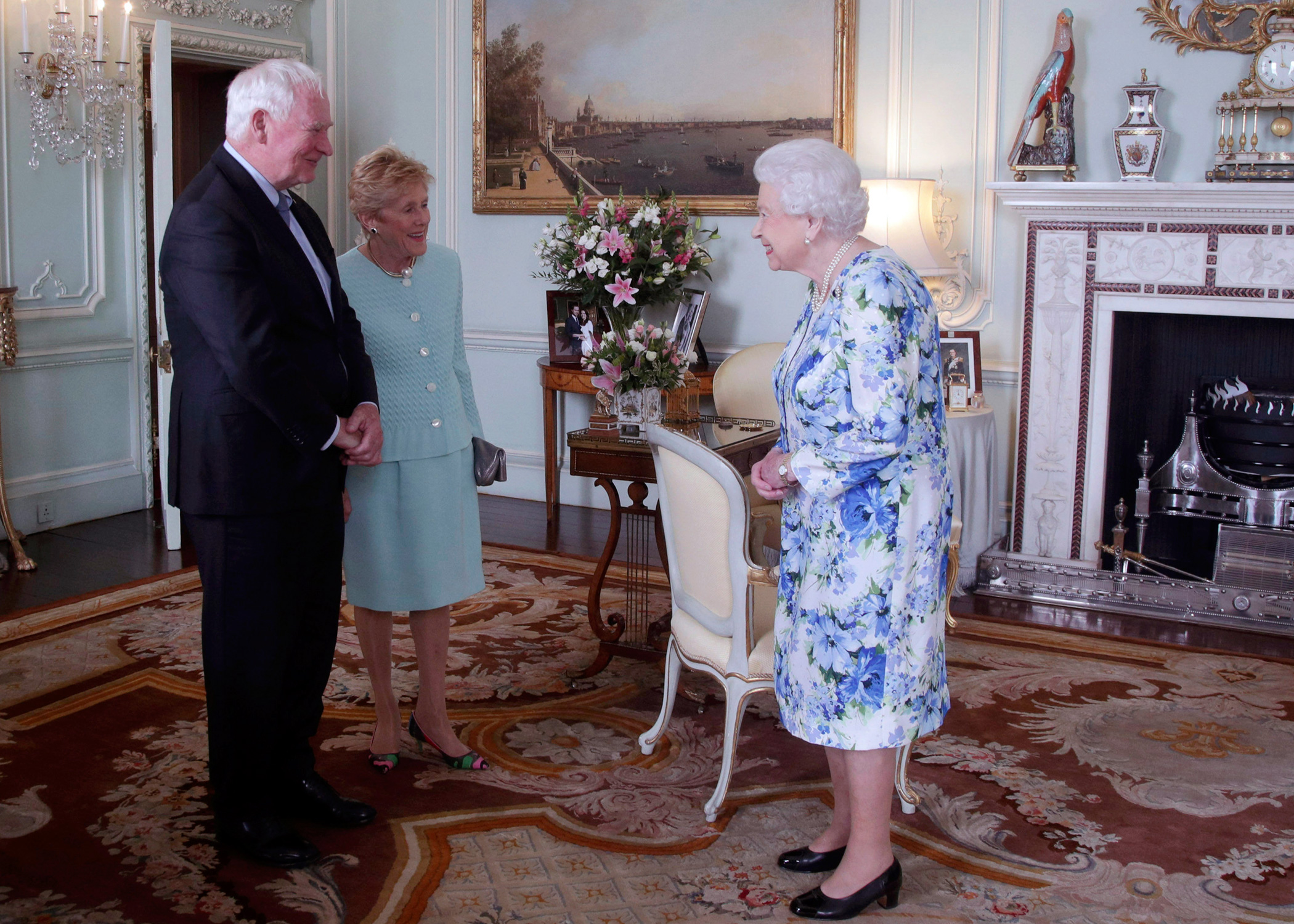 On July 18, 2017, Their Excellencies had a private audience with Her Majesty The Queen at Buckingham Palace. This meeting served as a farewell from the Governor General, whose term will come to an end in the fall of 2017.