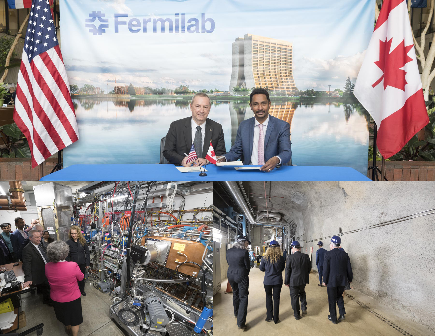 During the visit, a partnership was signed between Fermilab and York University, the first international agreement of this nature for Fermilab. They will collaborate to undertake the world's most ambitious neutrino experiment, the Deep Underground Neutrino Experiment.