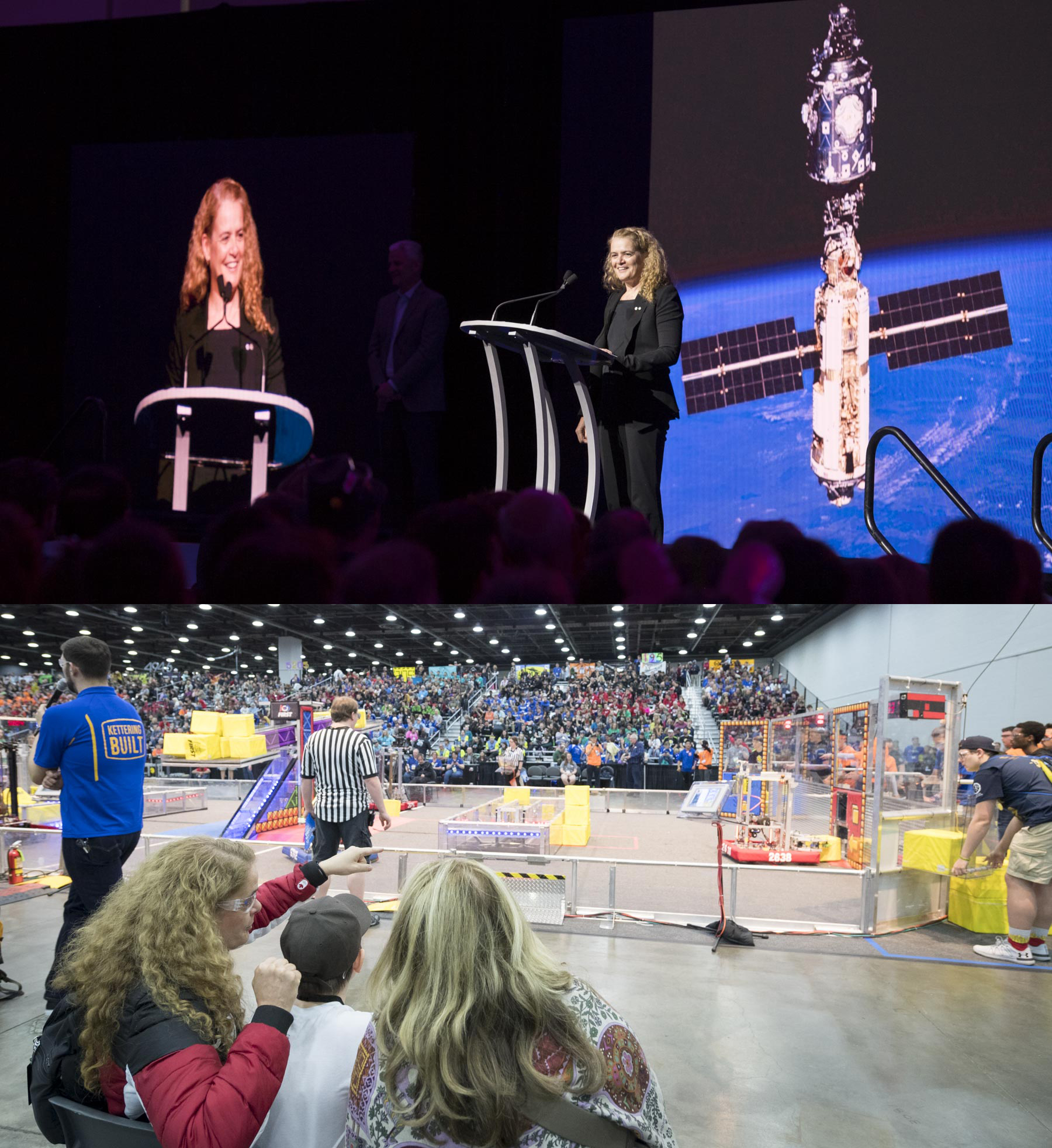 The FIRST Championship took place in Detroit and Canada was well represented in this competition where youth competed head to head with robotic creations. These different competitions strive to build interest in science, technology, engineering and mathematics (STEM) through the construction of robots that must complete complex challenges.