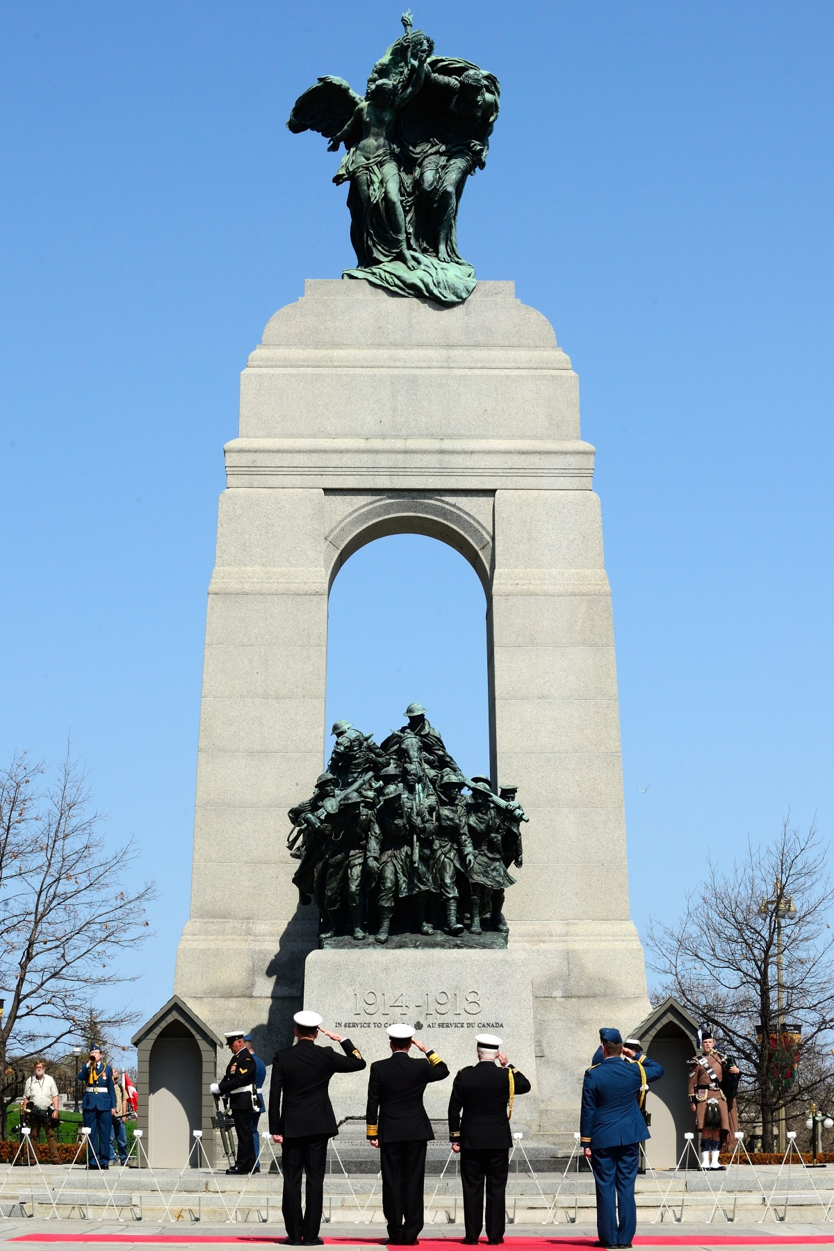 The ceremony was held at the National War Memorial in Ottawa.