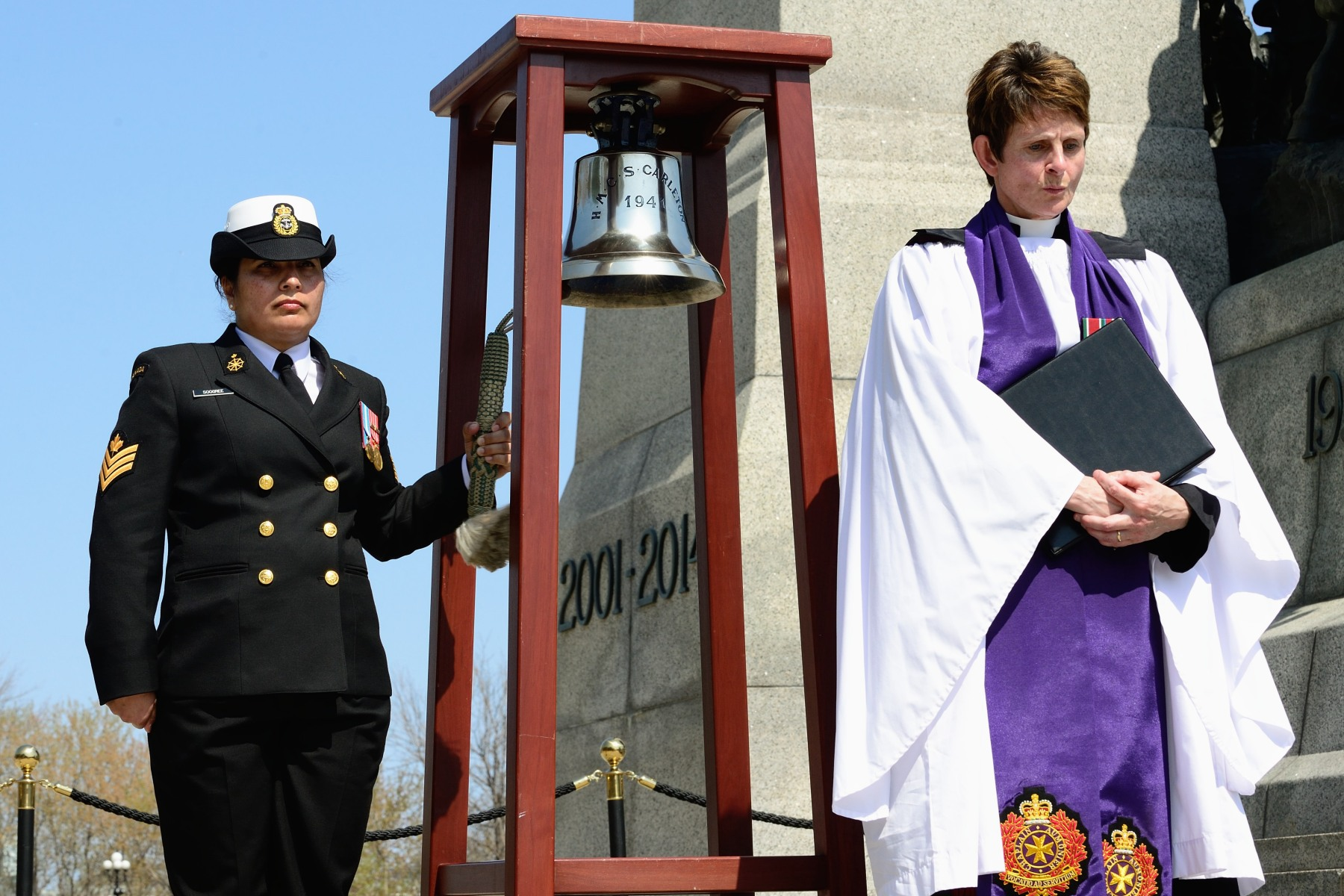 The national commemoration is an annual ceremony that pays tribute to the veterans of the Royal Canadian Navy, the Women's Royal Canadian Naval Service, Royal Canadian Air Force and the Merchant Navy who served in the battle.