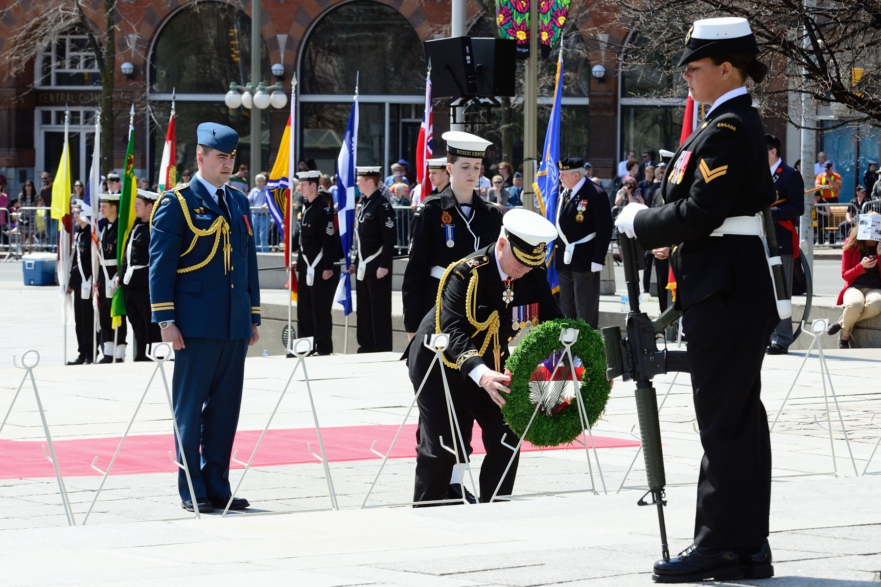 On this occasion, the Governor General laid lay a wreath.