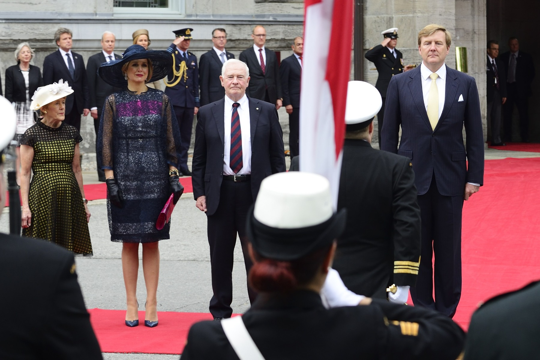 The State visit programme began with an official welcoming ceremony with military honours on the grounds of Rideau Hall, the residence of the governor general of Canada.