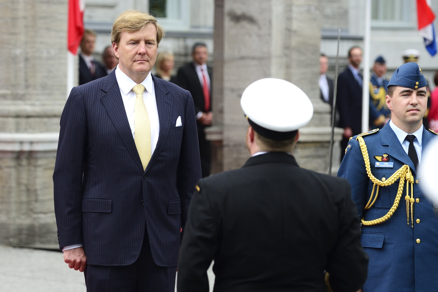 His Majesty King Willem-Alexander was saluted by the Canadian Armed Forces guard of honour.