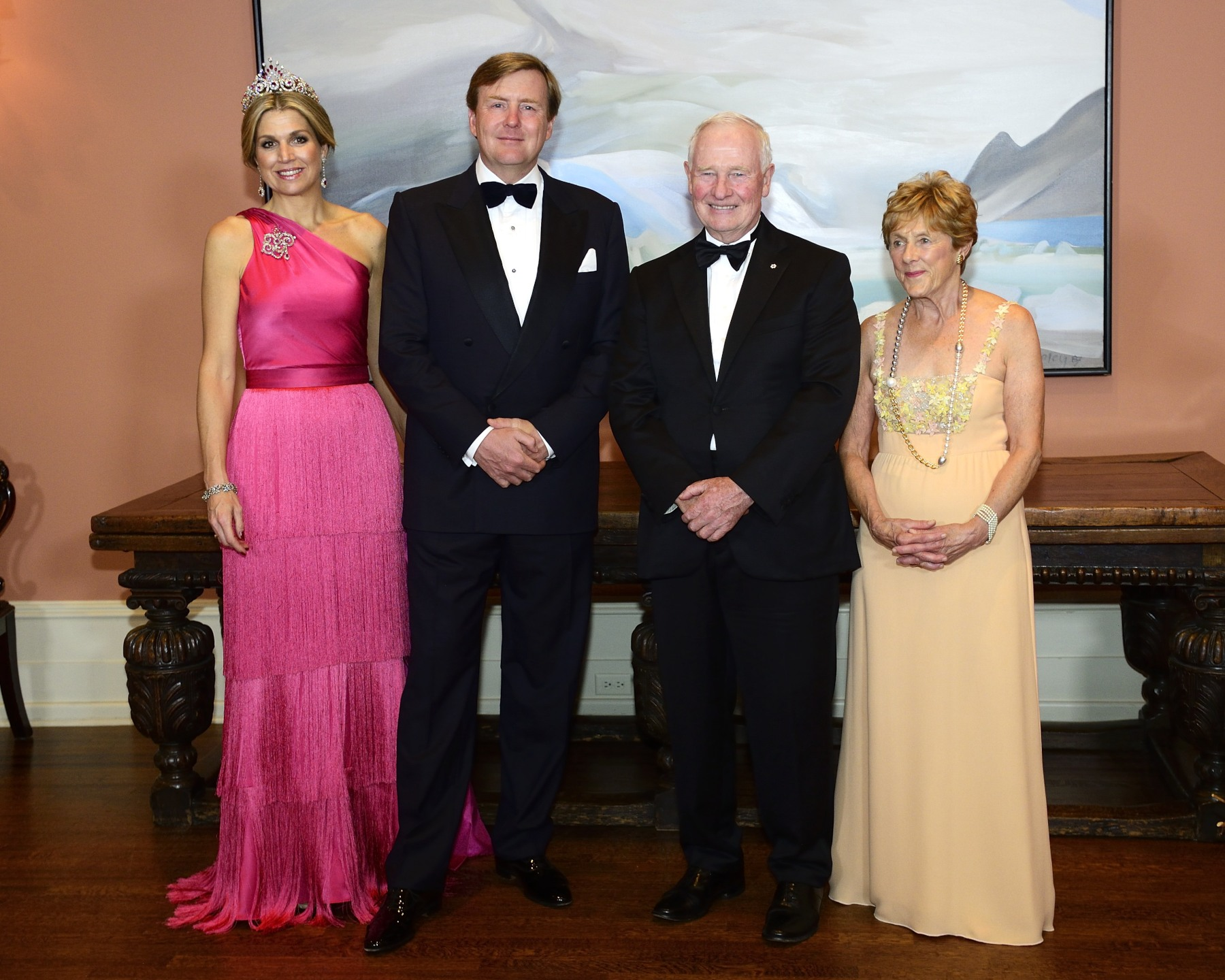 Their Excellencies hosted a State dinner in honour of Their Majesties' visit to Canada.