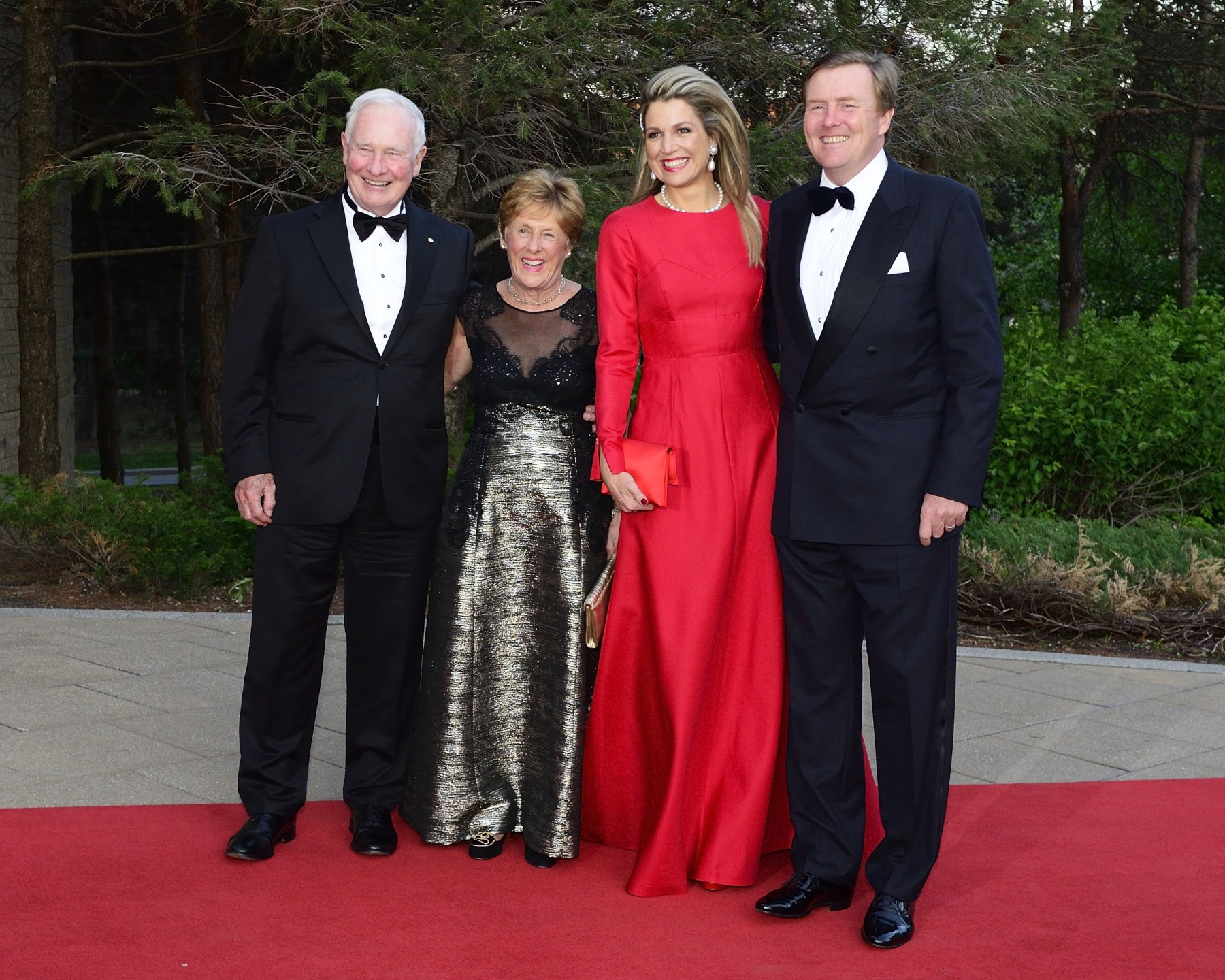 Their Excellencies the Right Honourable David Johnston, Governor General of Canada, and Mrs. Sharon Johnston attended a concert hosted by Their Majesties King Willem-Alexander and Queen Máxima of the Netherlands.