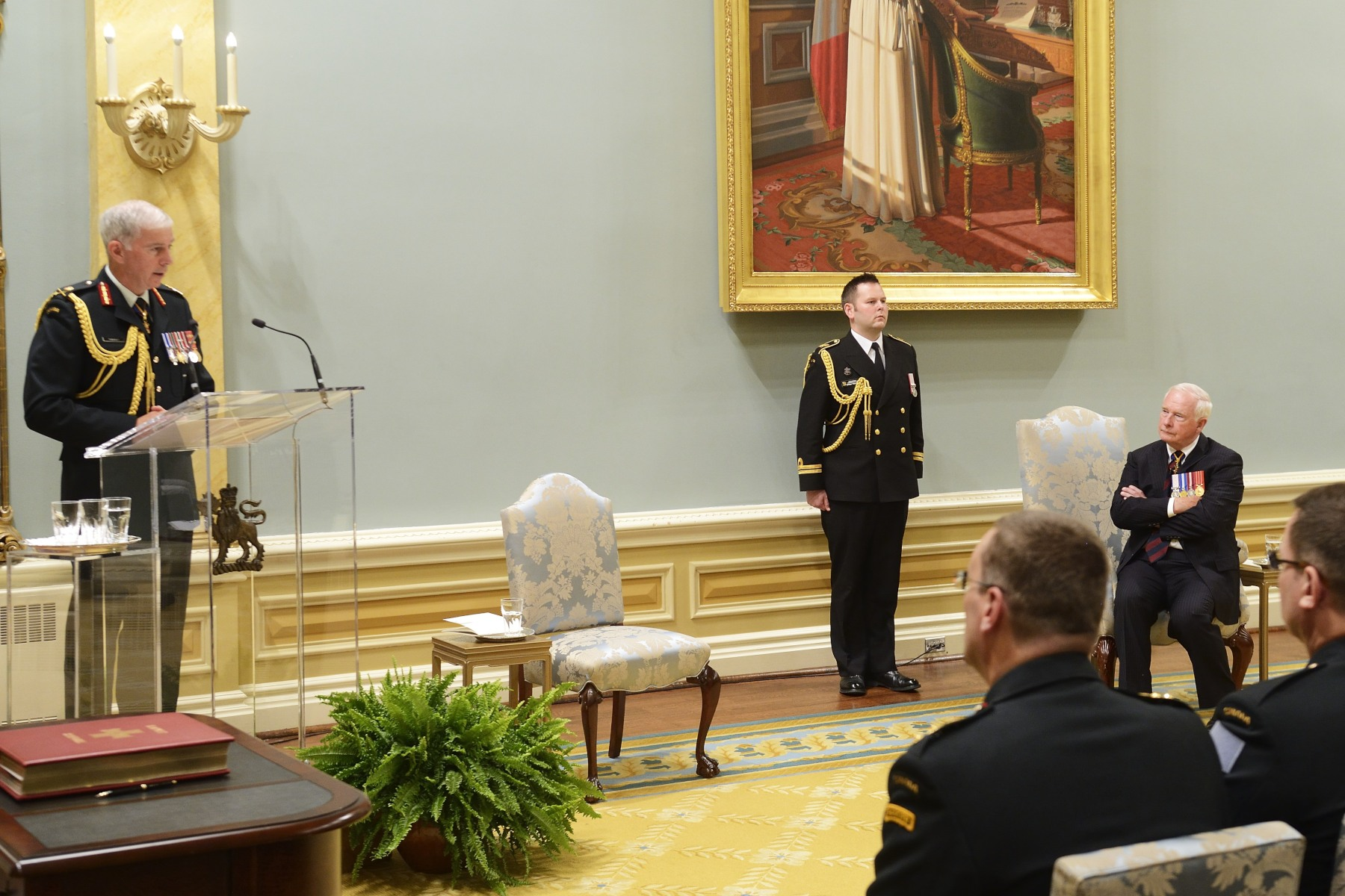 Lieutenant-General Guy Thibault, Vice Chief of the Defence Staff, also spoke during this ceremony.