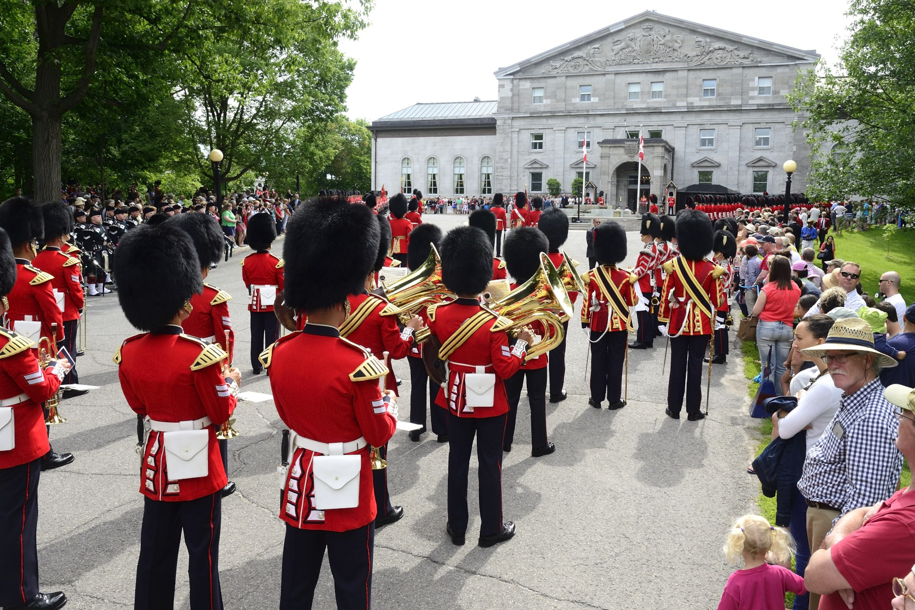 Members of the public were invited to witness the pageantry, precision and colour of the Governor General's annual Inspection of the Ceremonial Guard, which included members of regiments from across the country.