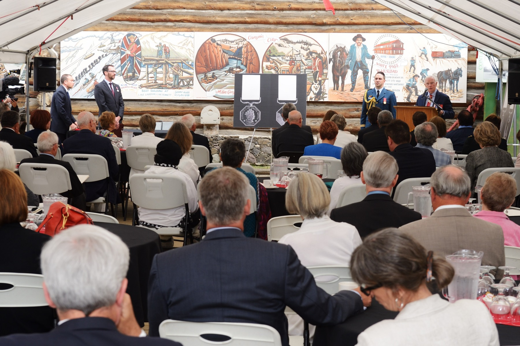 The Governor General presided over the inaugural presentation ceremony of the newly created Polar Medal at the MacBride Museum of Yukon History in Whitehorse, Yukon.