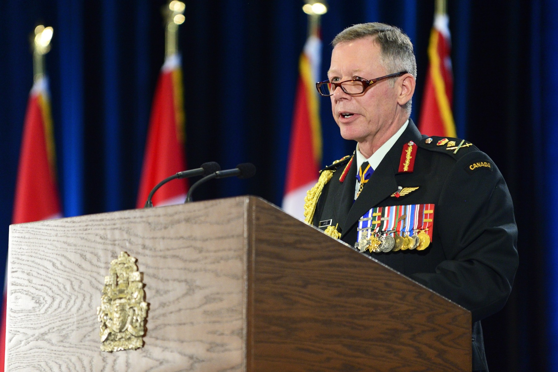 General Vance addressed the guests for the first time as the Chief of the Defence Staff.