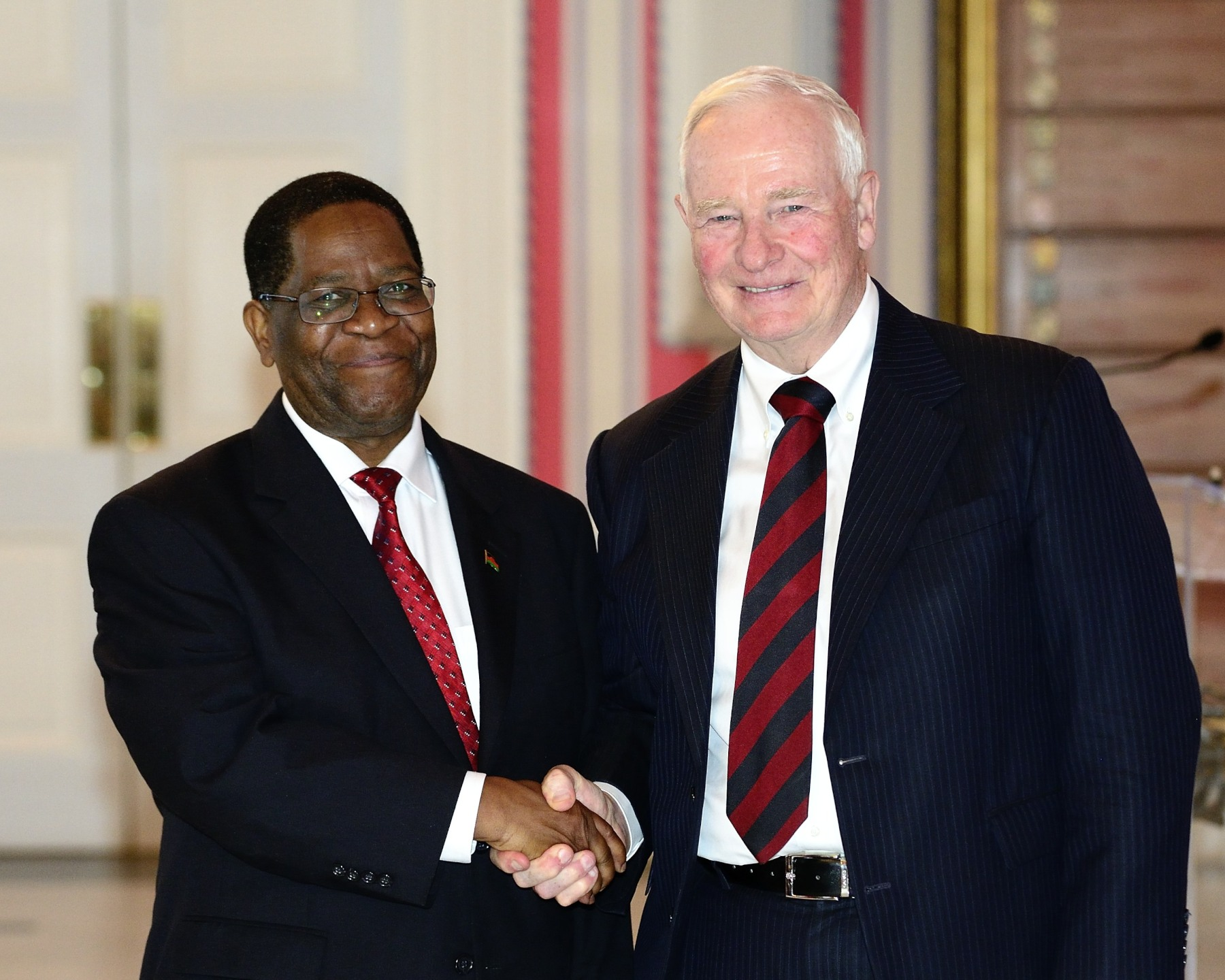 His Excellency Necton Darlington Mhura, High Commissioner for the Republic of Malawi, was the last one to present his letters of credence to the Governor General.