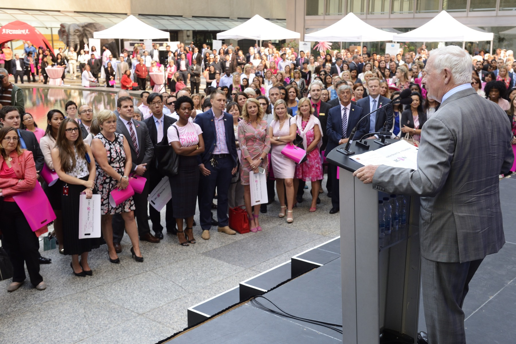 In Toronto, as in other cities across Canada, Think Pink Week engages employees, clients and community members, provides a forum to share information regarding breast cancer, and celebrates the community that comes together to support those living with the disease.