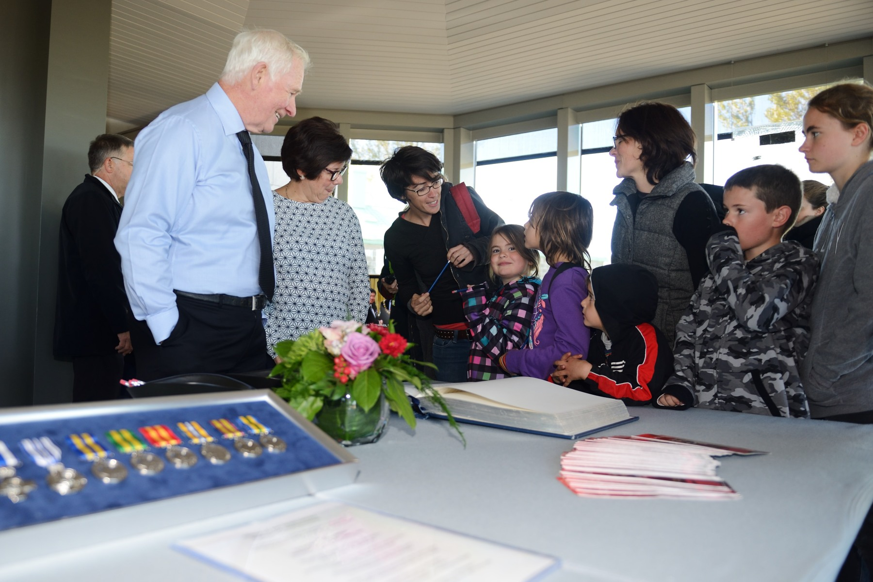 Representatives from the Chancellery of Honours spoke with visitors about the Canadian Honours System.