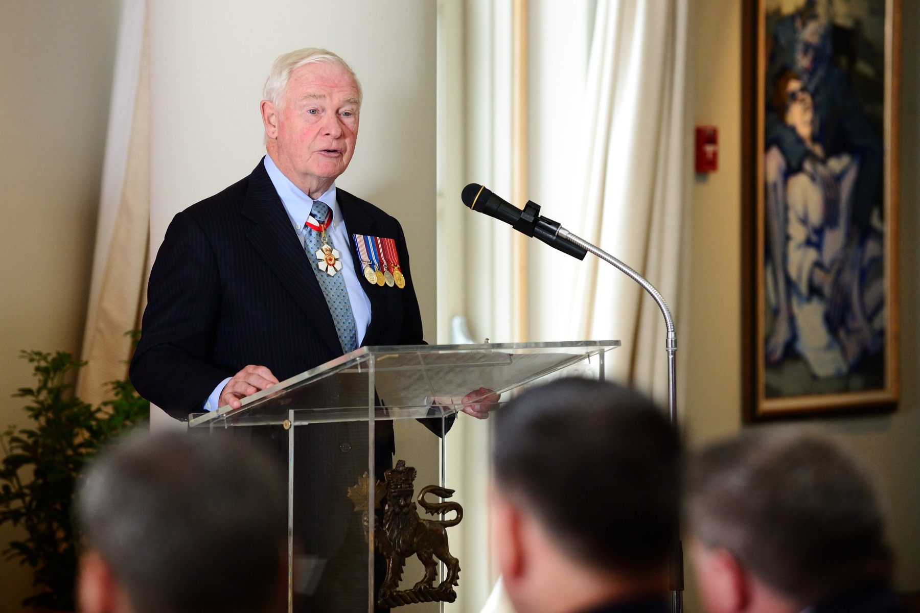 """All of you are here because of your contributions to our country and to its future,"" said His Excellenct. ""Because of your service. Your keen sense of duty. Your bravery. Your curiosity and your discovery in the North. This is what the Canadian Honours System does. It finds the very best of us, those of you who have given back to our country in many different ways, and shines a light on your success."""