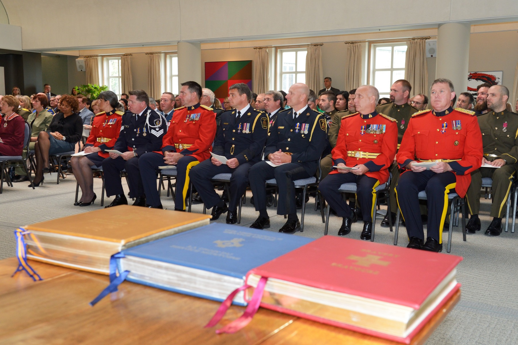During the morning ceremony, the Governor General presented the following honours: the Order of Merit of the Police Forces; the Meritorious Service Decorations (Military Division); the Decorations for Bravery; and the Polar Medal.