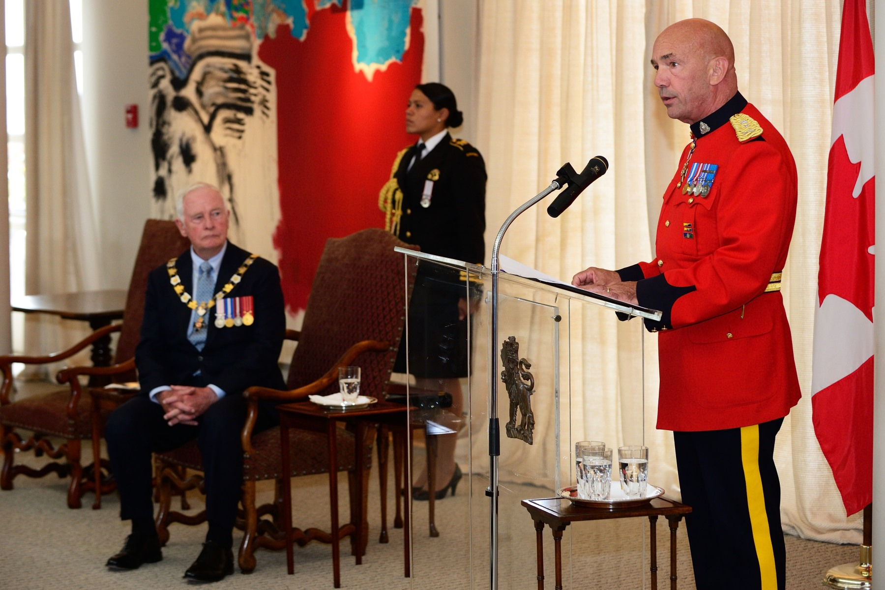 RCMP Commissioner Bob Paulson spoke during the afternoon ceremony.