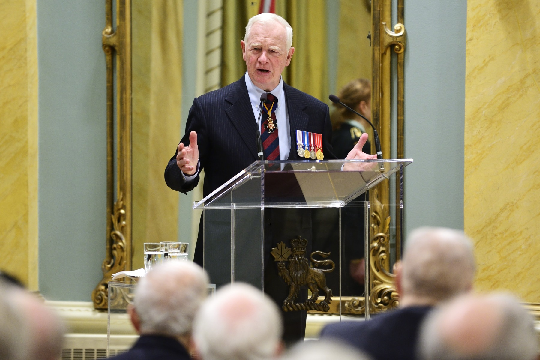 """Each year when I wear the poppy on my lapel, close to my heart, I wear it with a deep sense of humility and gratitude,"" said the Governor General. ""I wear it for the thousands of men and women who died or were wounded in war. I wear it in the hopes of a peaceful world, where such sacrifices need not be made."""