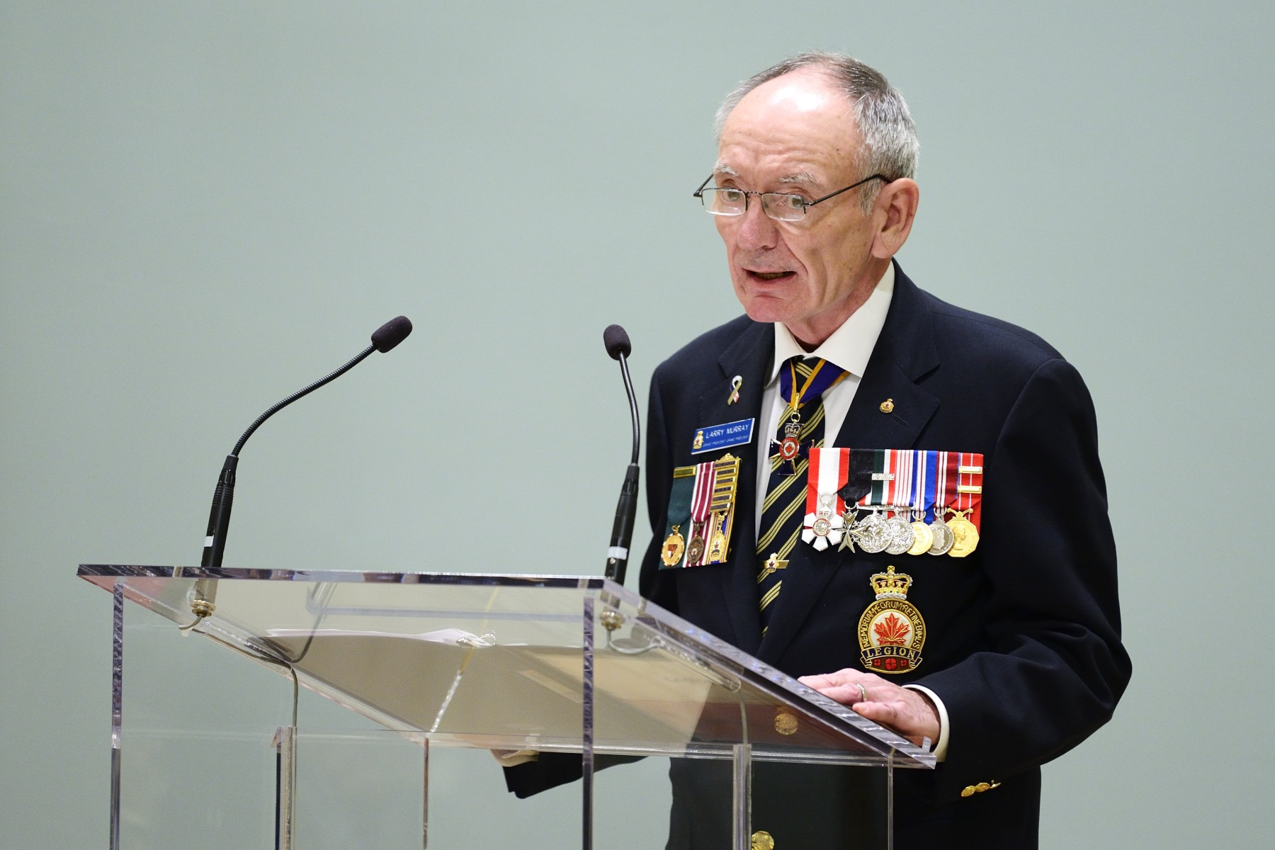 Larry Murray, Grand President of The Royal Canadian Legion, also delivered remarks.