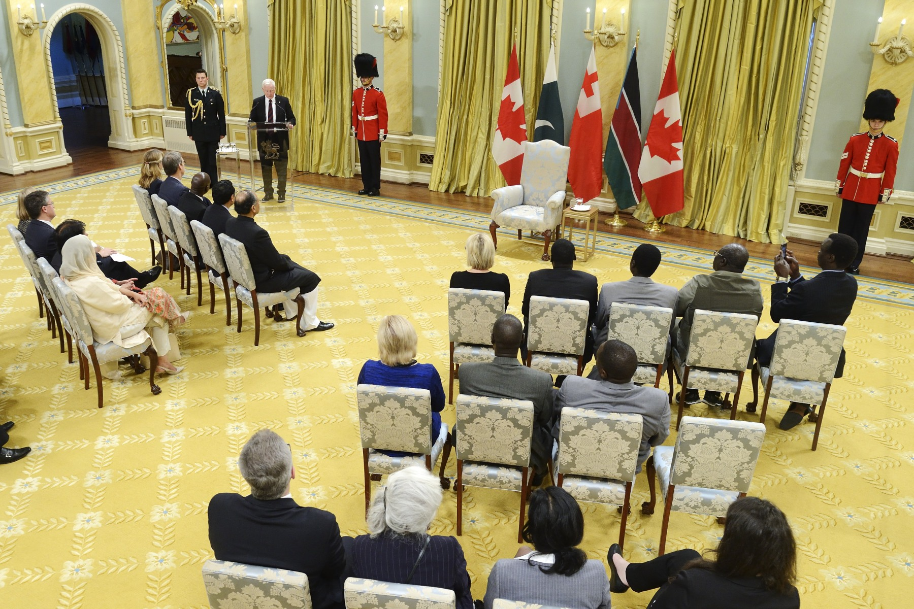 """What a delight to welcome each of you to Rideau Hall and to Canada. We have a long history of diplomacy in this country, of which you are now a part. At its best, diplomacy brings people together. It bridges differences. It builds on the strengths of all involved,"" said His Excellency."