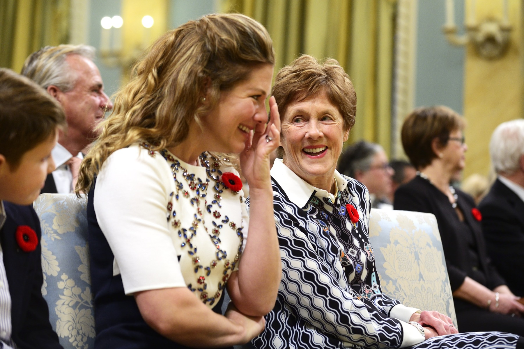 The ceremony was filled with emotion for Mrs. Grégoire-Trudeau.