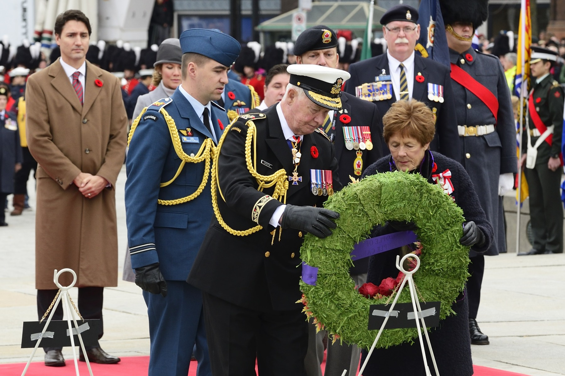 Their Excellencies laid a wreath on behalf of the people of Canada.