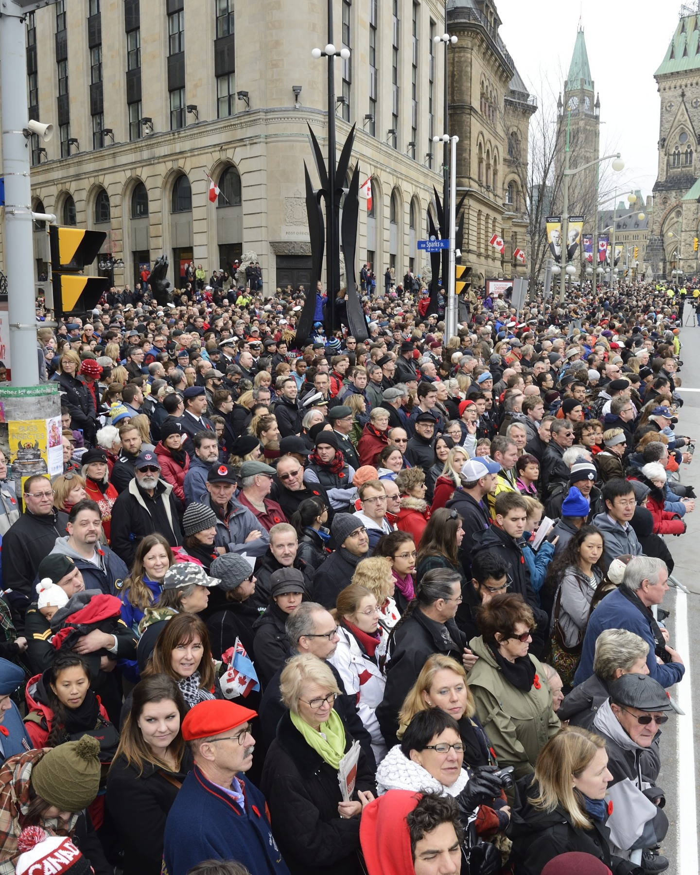 Some 35 000 people attended the ceremony that was held in downtown Ottawa.