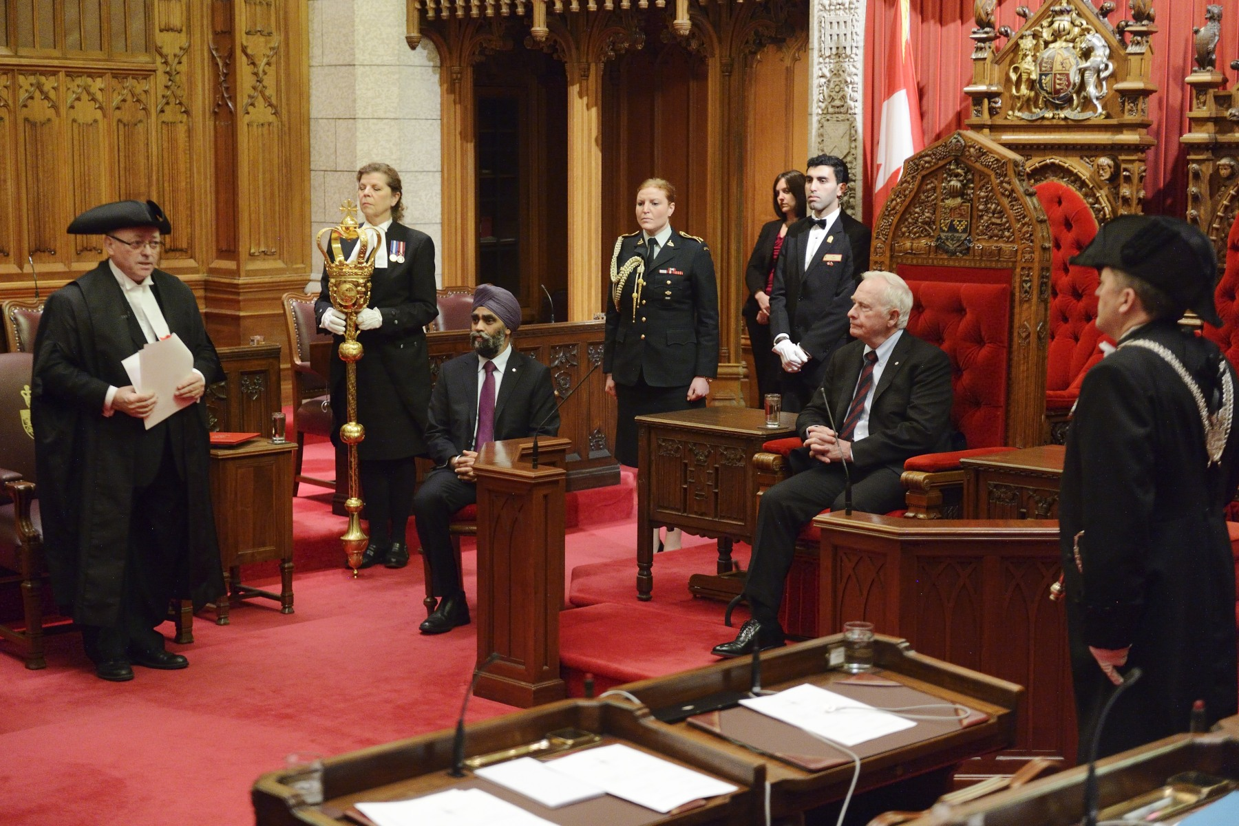 On December 11, 2015, His Excellency the Right Honourable David Johnston, Governor General of Canada, granted Royal Assent to the first bill adopted by the 42nd Parliament. The ceremony took place in the Senate Chamber.